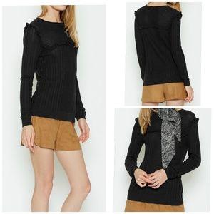 Joie size XS ruffle sweater